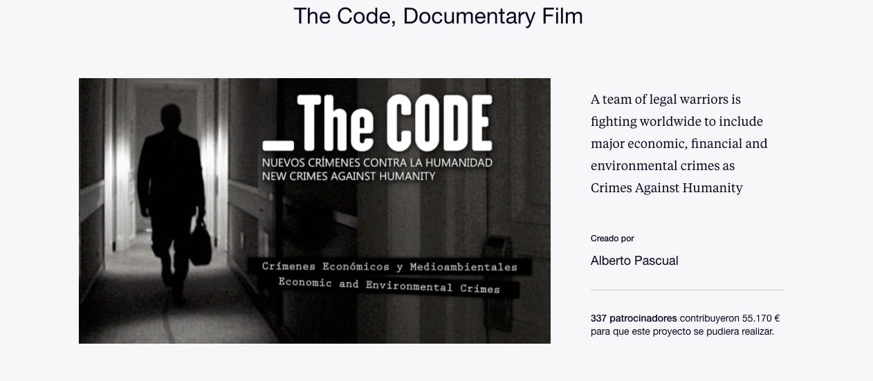 The Code en kickstarter